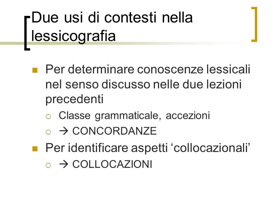 Definizioni fraseologiche Una collocazione e una co-occorrenza di parole soggetta ad una regola di restrizione (Melcuk & Wanner) Troppo generale: esistono molti tipi di restrizioni