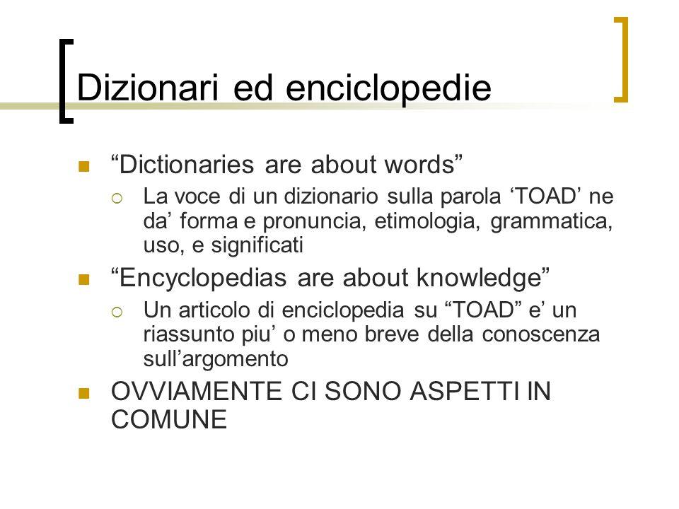 SIGNIFICATO Una delle funzioni piu importanti di un dizionario e caratterizzare le ACCEZIONI di una parola attraverso DEFINIZIONI Probabilmente laspetto piu difficile della lessicografia
