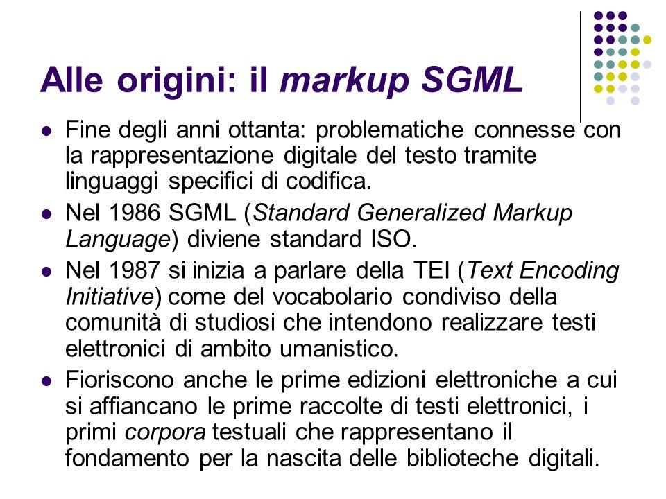 Alle origini: il Web e i linguaggi La discussione che ne segue non è solo di natura tecnica, ma investe i fondamenti teorici della rappresentazione digitale.