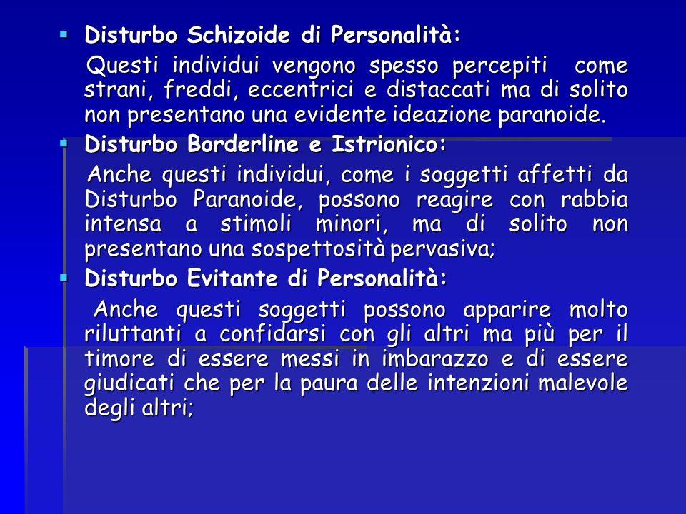 Disturbo Schizoide di Personalità: Disturbo Schizoide di Personalità: Questi individui vengono spesso percepiti come strani, freddi, eccentrici e dist