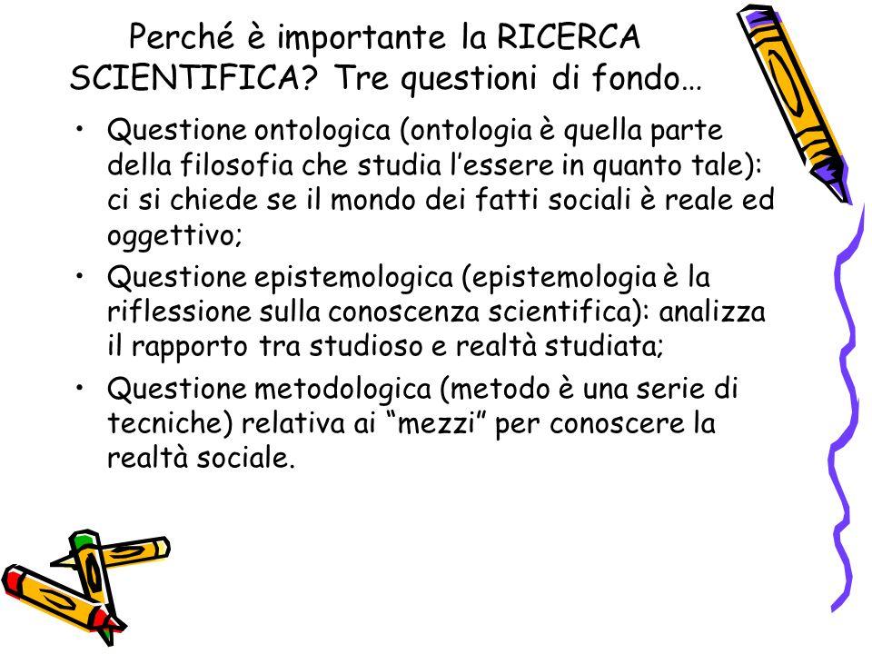 Perché è importante la RICERCA SCIENTIFICA.