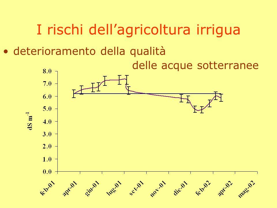 I rischi dellagricoltura irrigua deterioramento della qualità delle acque sotterranee