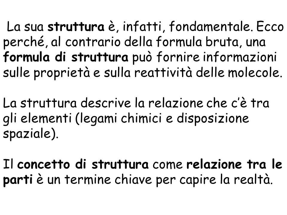 La sua struttura è, infatti, fondamentale. Ecco perché, al contrario della formula bruta, una formula di struttura può fornire informazioni sulle prop