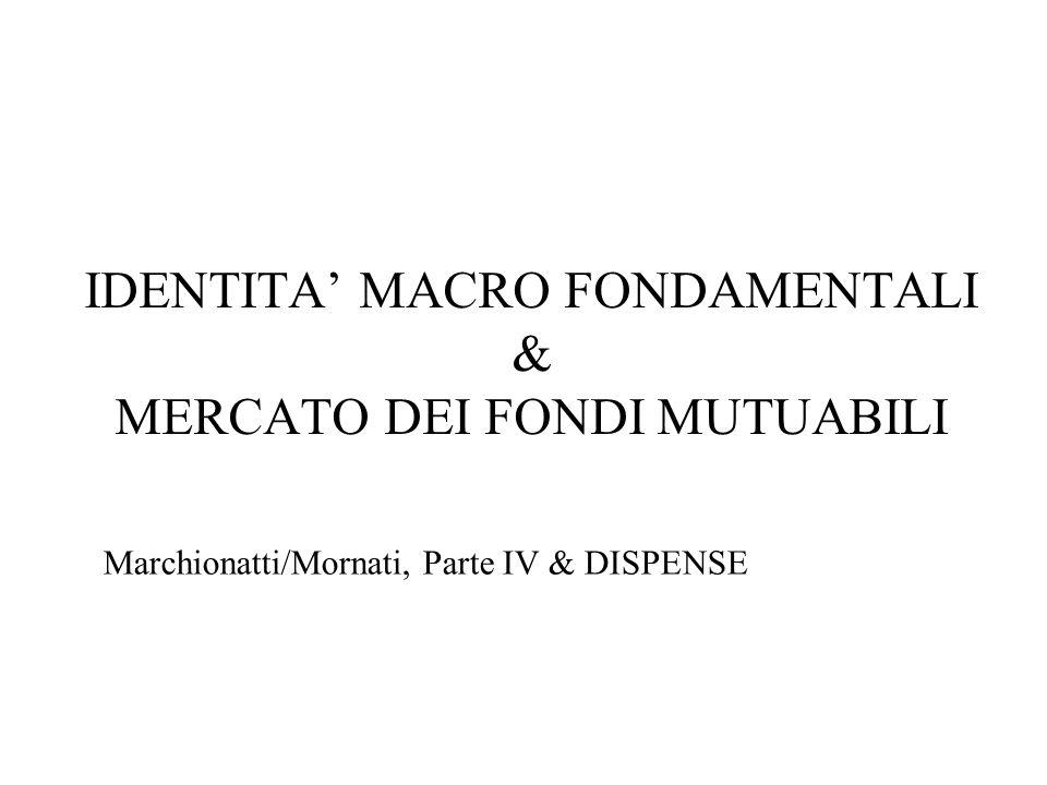 IDENTITA MACRO FONDAMENTALI & MERCATO DEI FONDI MUTUABILI Marchionatti/Mornati, Parte IV & DISPENSE