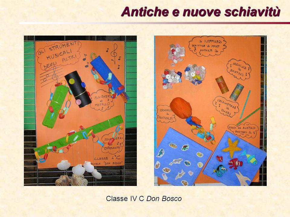 Antiche e nuove schiavitù Classe IV C Don Bosco