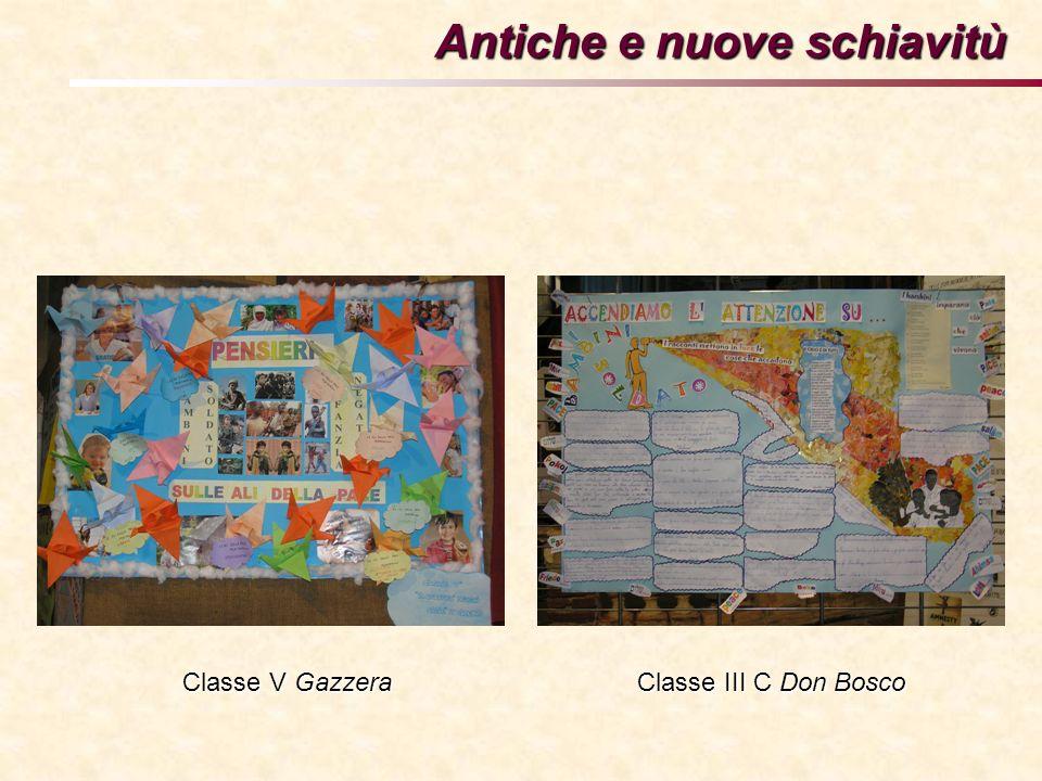 Antiche e nuove schiavitù Classe V Gazzera Classe III C Don Bosco