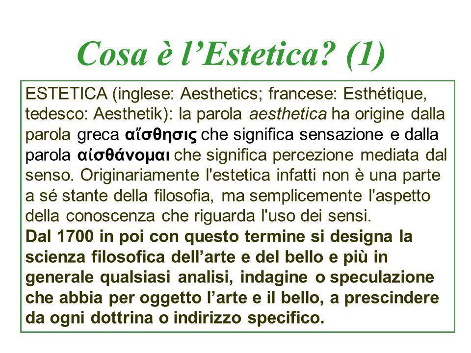 Cosa è lEstetica.(2) Gli autori e le opere: Aristotele: Poetica (circa 334 – 300 a.