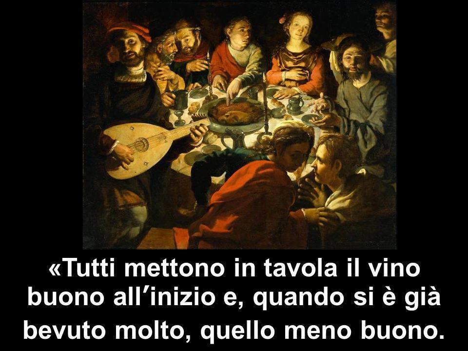 Matteo 3,1-12 «Tutti mettono in tavola il vino buono allinizio e, quando si è già bevuto molto, quello meno buono.