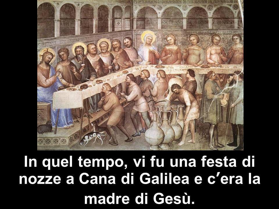 Matteo 3,1-12 In quel tempo, vi fu una festa di nozze a Cana di Galilea e cera la madre di Gesù.