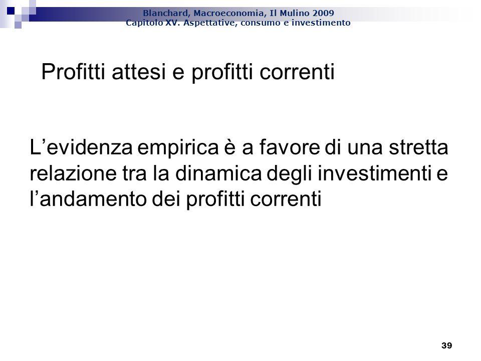 Blanchard, Macroeconomia, Il Mulino 2009 Capitolo XV. Aspettative, consumo e investimento 40