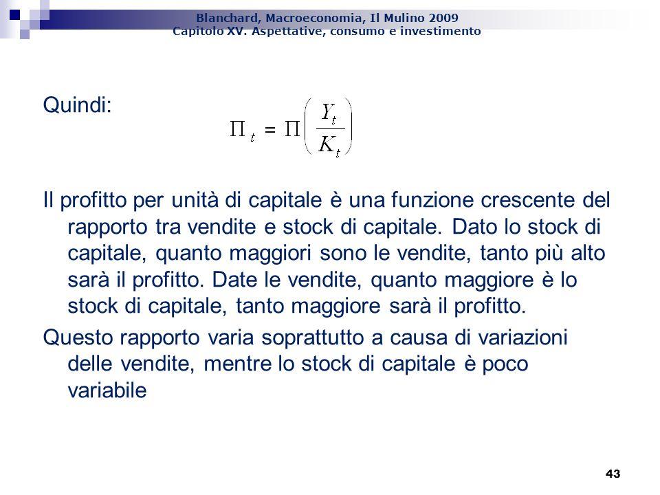 Blanchard, Macroeconomia, Il Mulino 2009 Capitolo XV. Aspettative, consumo e investimento 44