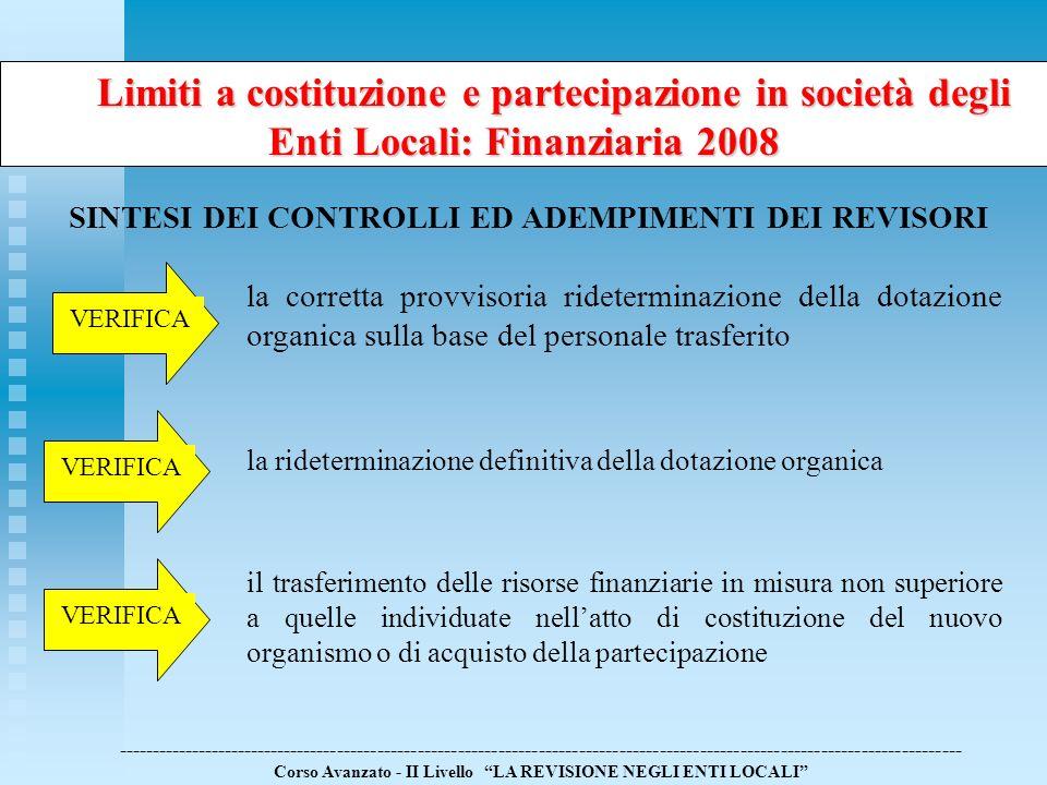 Limiti a costituzione e partecipazione in società degli Enti Locali: Finanziaria 2008 Limiti a costituzione e partecipazione in società degli Enti Loc