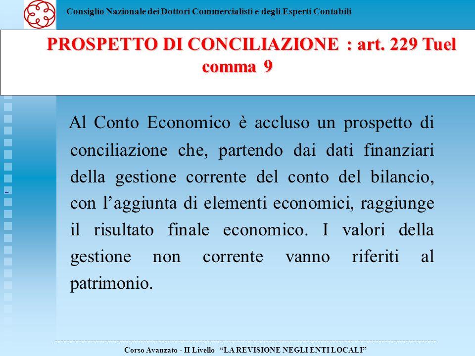 Consiglio Nazionale dei Dottori Commercialisti e degli Esperti Contabili Al Conto Economico è accluso un prospetto di conciliazione che, partendo dai