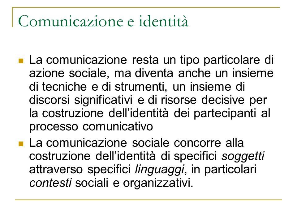 Parte II: I soggetti e gli attori della comunicazione sociale Definizione di comunicazione sociale: distinzioni, sovrapposizioni, interazioni tra comunicazione e sociale Il chi della comunicazione sociale: organizzazioni non profit, volontariato, imprese La dimensione di servizio della comunicazione sociale La comunicazione nei servizi sociali