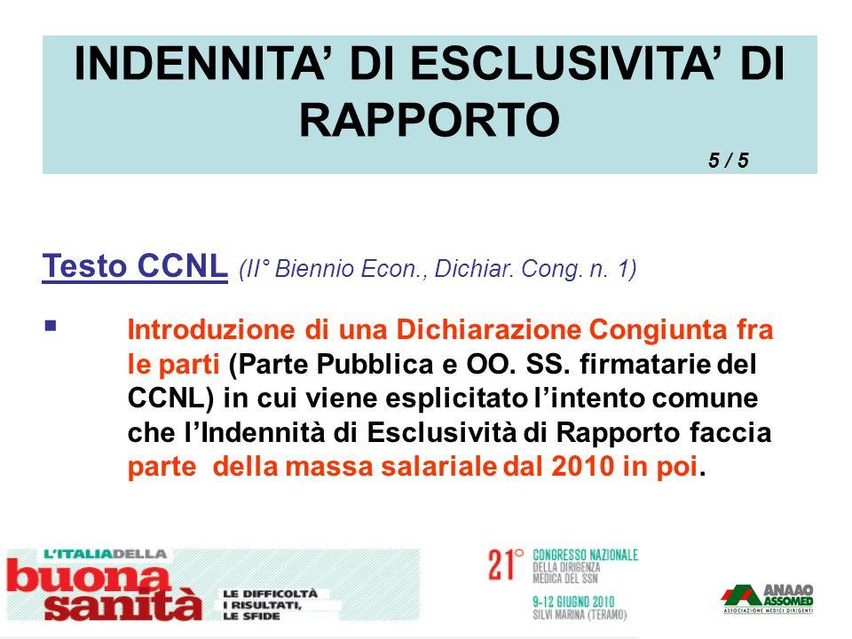 Testo CCNL (II° Biennio Econ., Dichiar. Cong. n. 1) Introduzione di una Dichiarazione Congiunta fra le parti (Parte Pubblica e OO. SS. firmatarie del