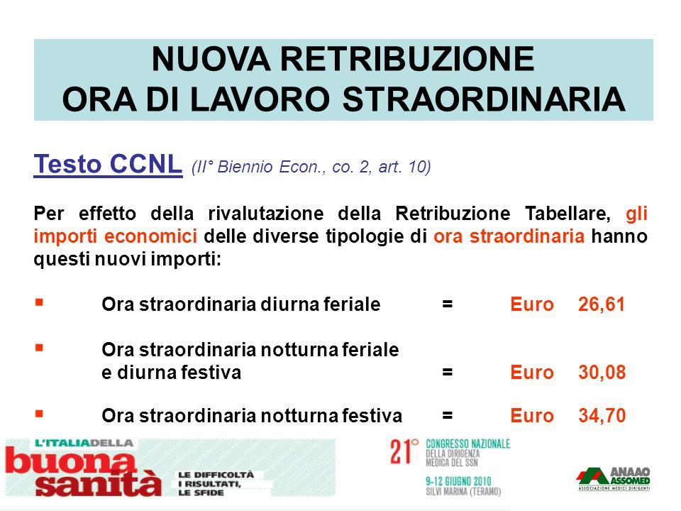 Testo CCNL (II° Biennio Econ., co. 2, art. 10) Per effetto della rivalutazione della Retribuzione Tabellare, gli importi economici delle diverse tipol