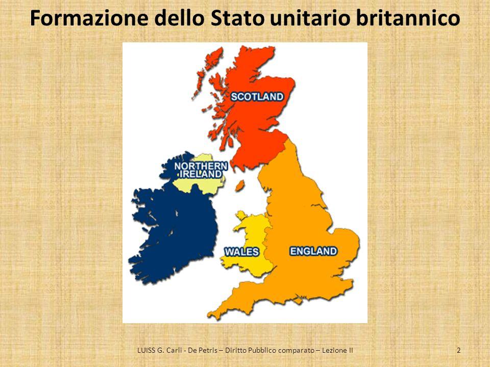 Natura della Costituzione britannica Una costituzione non scritta.