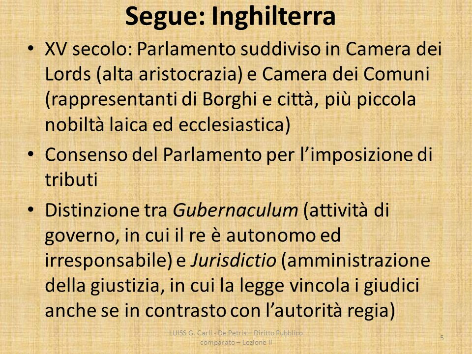 Gubernaculum e Jurisdictio LUISS G.