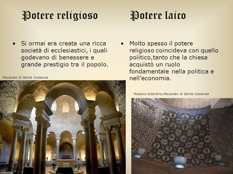 Potere religioso Si ormai era creata una ricca società di ecclesiastici, i quali godevano di benessere e grande prestigio tra il popolo. Potere laico