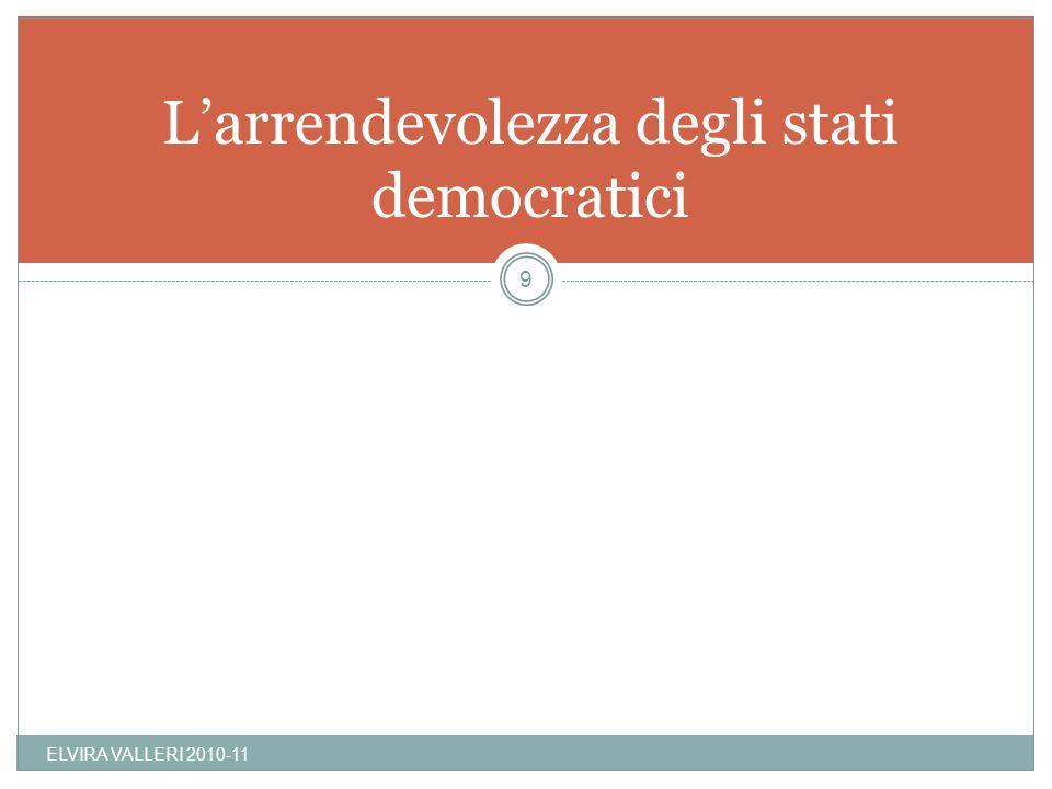 Larrendevolezza degli stati democratici ELVIRA VALLERI 2010-11 9
