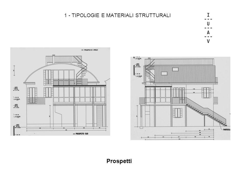 1 - TIPOLOGIE E MATERIALI STRUTTURALI Prospetti