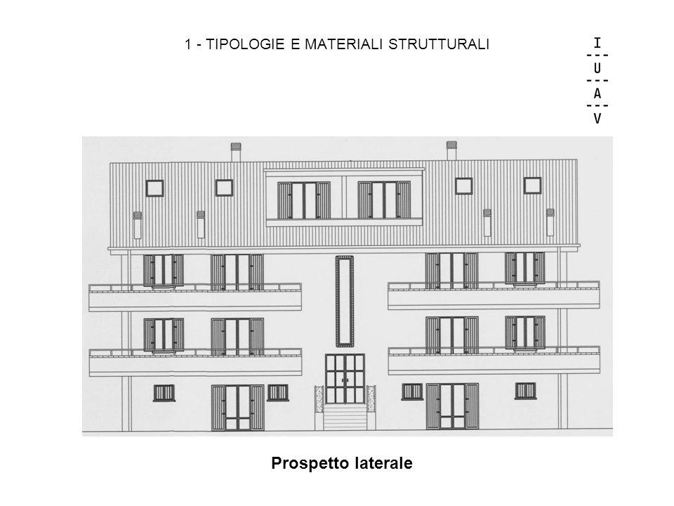 1 - TIPOLOGIE E MATERIALI STRUTTURALI Prospetto laterale