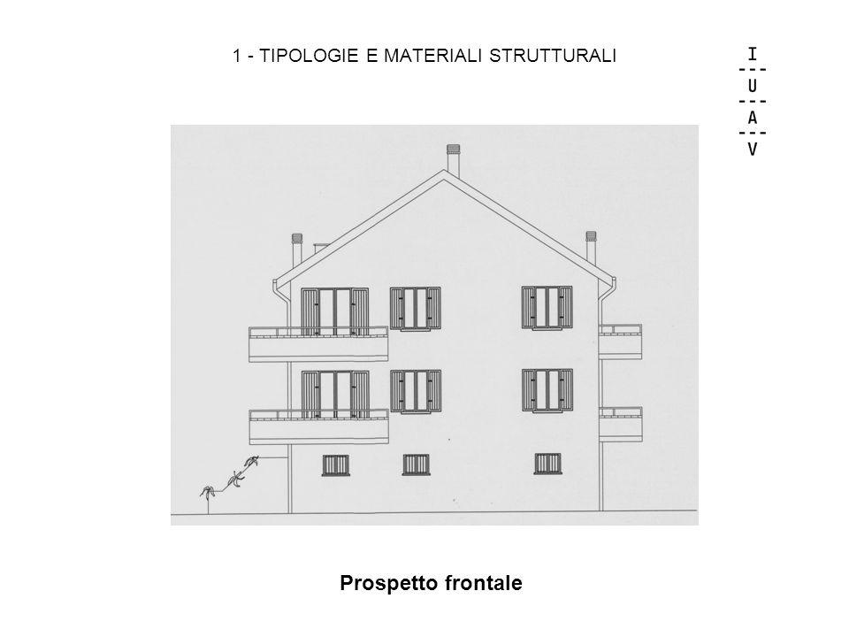 1 - TIPOLOGIE E MATERIALI STRUTTURALI Prospetto frontale