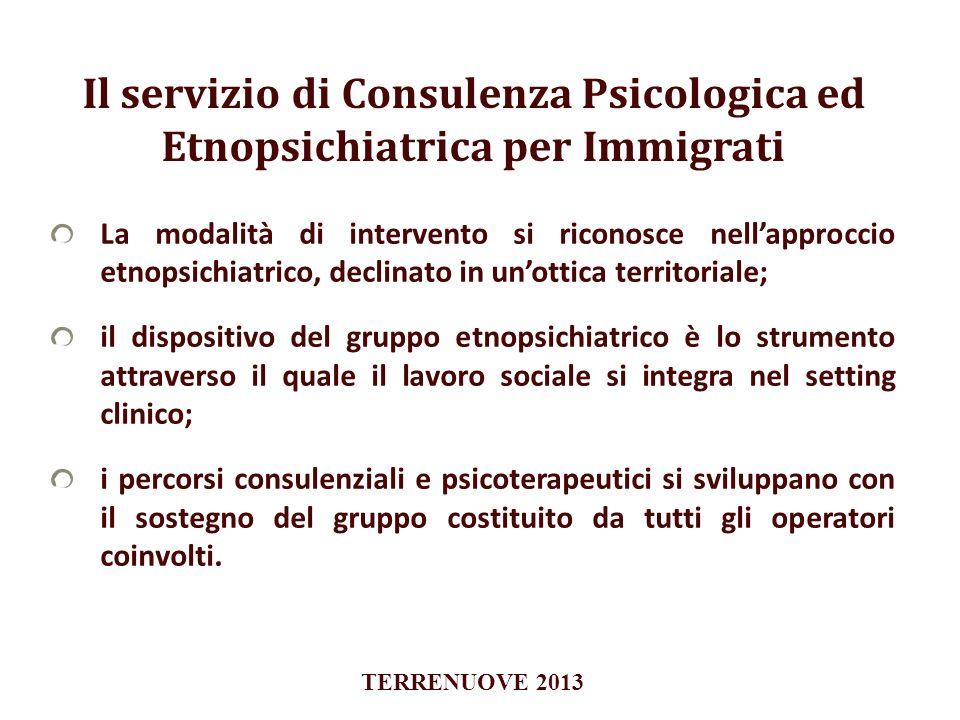 Il servizio di Consulenza Psicologica ed Etnopsichiatrica per Immigrati La modalità di intervento si riconosce nellapproccio etnopsichiatrico, declina