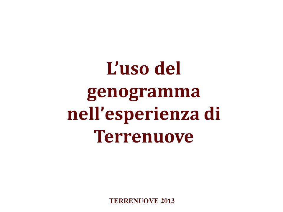 Luso del genogramma nellesperienza di Terrenuove TERRENUOVE 2013