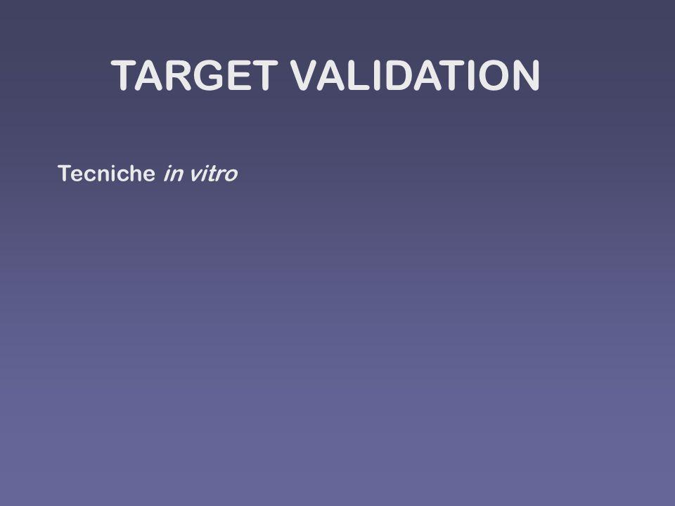 TARGET VALIDATION Tecniche in vitro