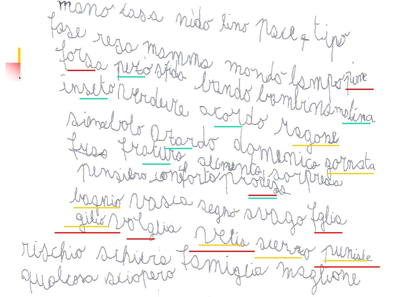 - screening II elementare- AID Evoluzione della componente di correttezza in lettura di correttezza in lettura