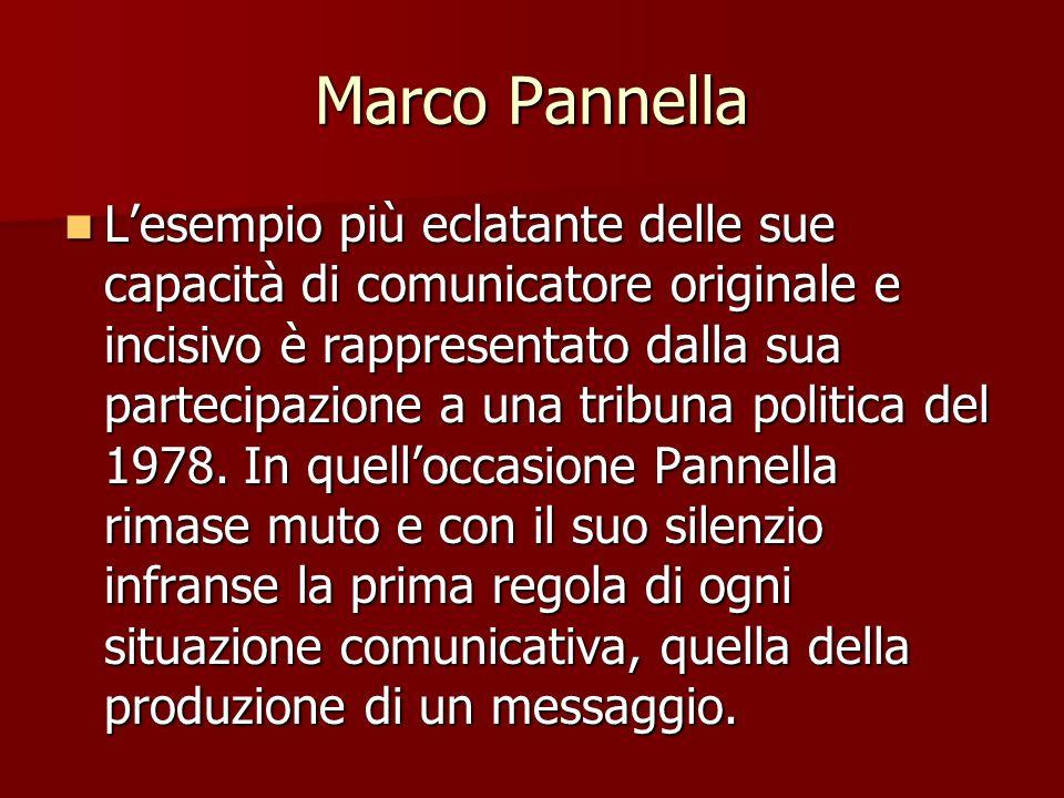 Marco Pannella Lesempio più eclatante delle sue capacità di comunicatore originale e incisivo è rappresentato dalla sua partecipazione a una tribuna p