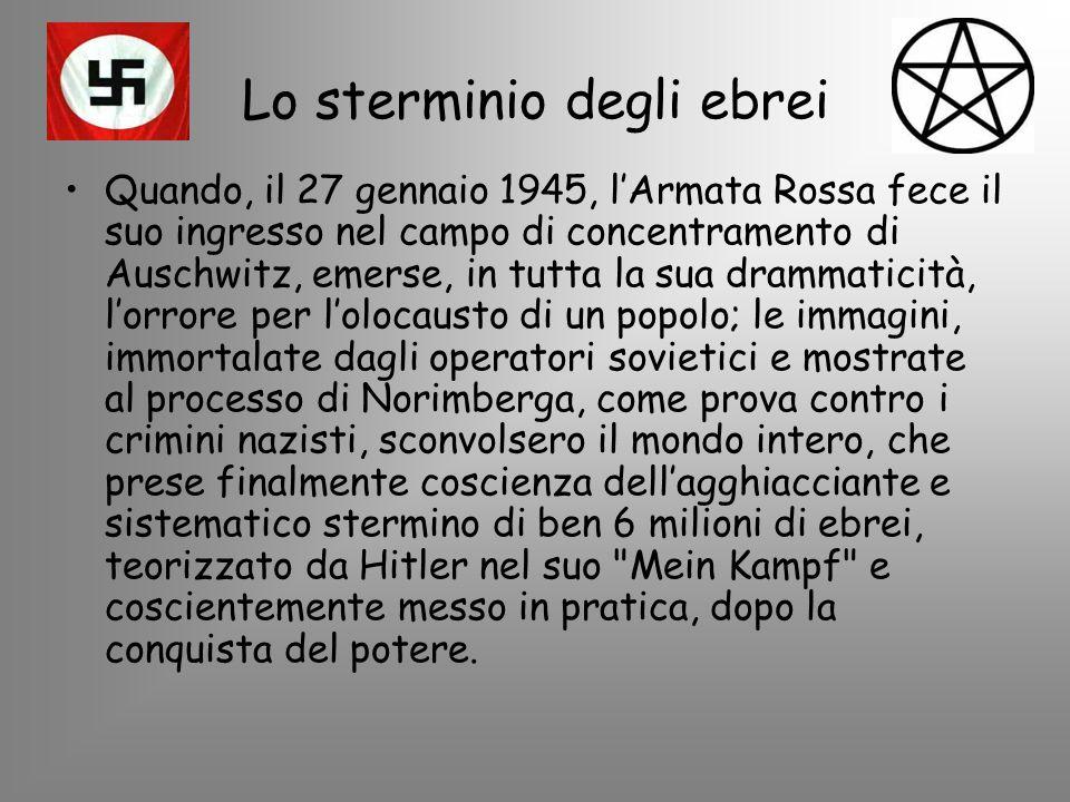 IL 27 GENNAIO DEL 1945 SONO STATI APERTI I CANCELLI DEI CAMPI DI STERMINIO.