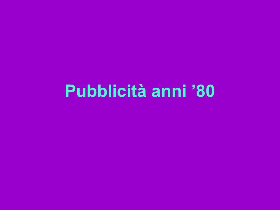Pubblicità anni 80