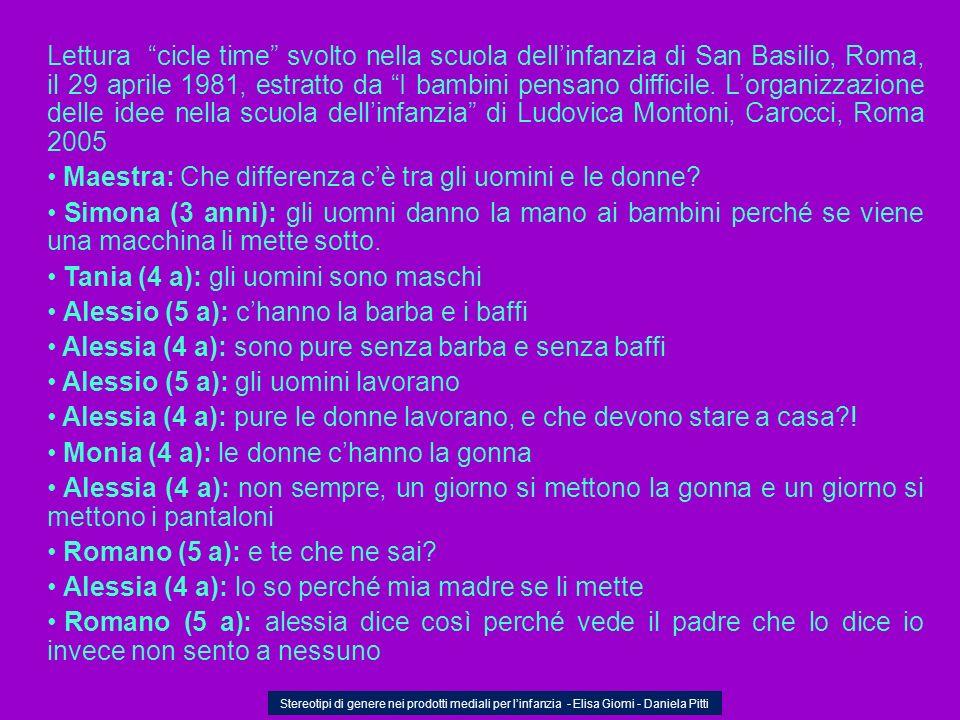 Lettura cicle time svolto nella scuola dellinfanzia di San Basilio, Roma, il 29 aprile 1981, estratto da I bambini pensano difficile. Lorganizzazione