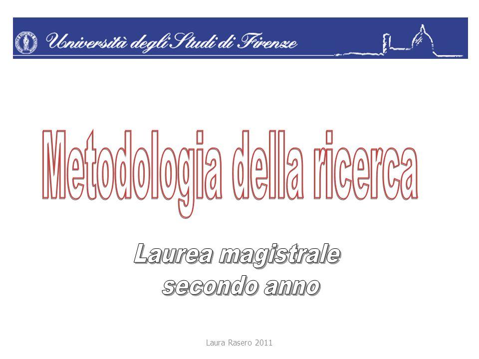 Laura Rasero 2011 Il protocollo di ricerca Item Suggerimenti 6.