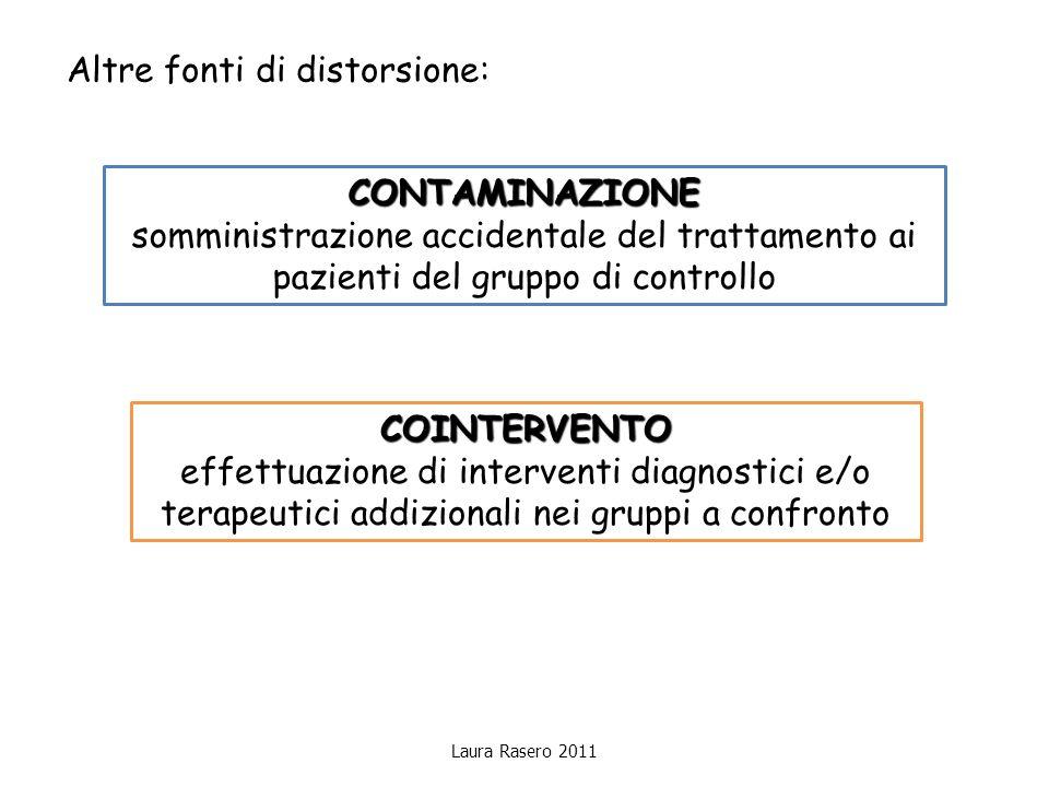 Laura Rasero 2011 Altre fonti di distorsione: CONTAMINAZIONE somministrazione accidentale del trattamento ai pazienti del gruppo di controllo COINTERV