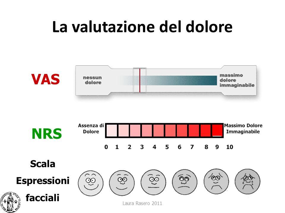 La valutazione del dolore Laura Rasero 2011 VAS NRS Scala Espressioni facciali