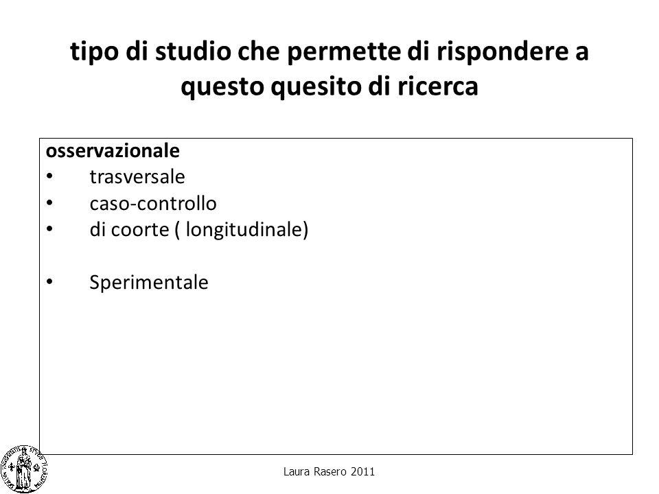 Laura Rasero 2011 Il protocollo di ricerca ItemSuggerimenti 1.