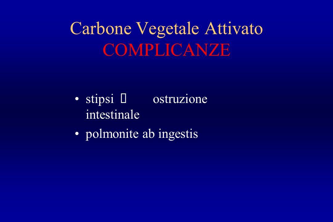 Carbone Vegetale Attivato COMPLICANZE stipsi è ostruzione intestinale polmonite ab ingestis