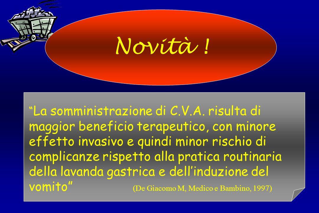 Novità ! La somministrazione di C.V.A. risulta di maggior beneficio terapeutico, con minore effetto invasivo e quindi minor rischio di complicanze ris