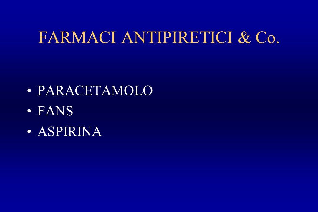 FARMACI ANTIPIRETICI & Co. PARACETAMOLO FANS ASPIRINA