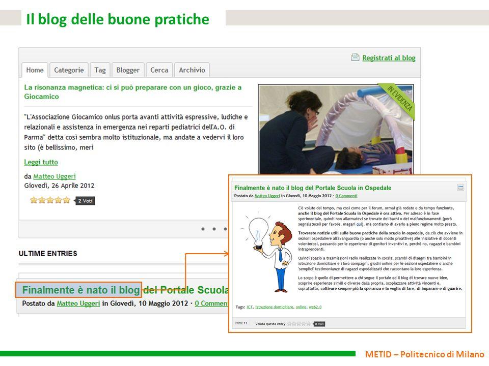 METID – Politecnico di Milano Il blog delle buone pratiche
