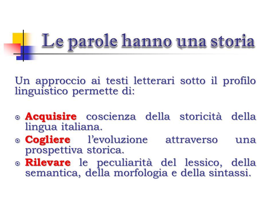 Conoscere i cambiamenti lessicali attraverso la letteratura italiana A cura della classe 2D Liceo Scienze Applicate- IIS P.Martinetti – Caluso Realizz