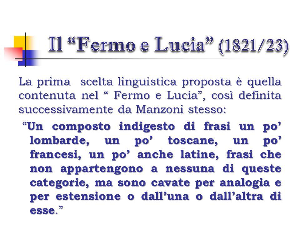 Durante la stesura del romanzo, Manzoni si pone alcune domande significative : Quale lingua usare per parlare agli italiani in una Italia politicament