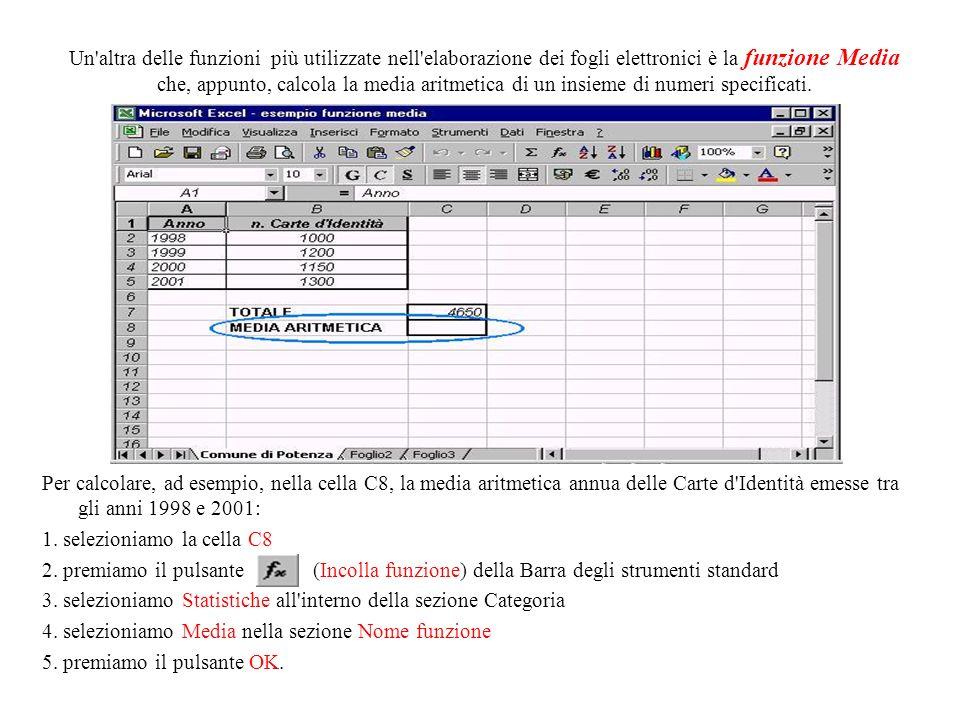 Se torniamo a cliccare sulla cella C7, vediamo visualizzata la formula inserita sulla barra della formula. Lo stesso risultato può essere raggiunto sc