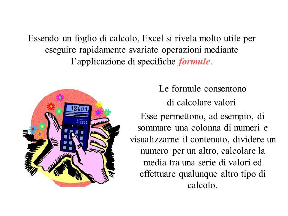 Modulo 4 – Seconda Parte Foglio Elettronico Definire la funzionalità di un software per gestire un foglio elettronico Utilizzare le operazioni fondame