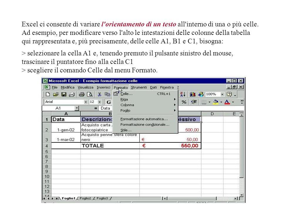 Ecco la scheda Numero della finestra di dialogo Formato celle. Nella sezione di destra ci sono le diverse Categorie di formato messe a disposizione da