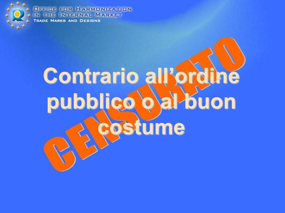 Contrario allordine pubblico o al buon costume