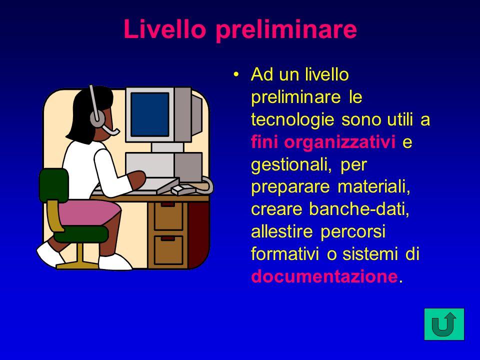 Dove collocare le tecnologie? Secondo uno schema elaborato da Antonio Calvani si possono individuare tre livelli nell'introduzione delle nuove tecnolo